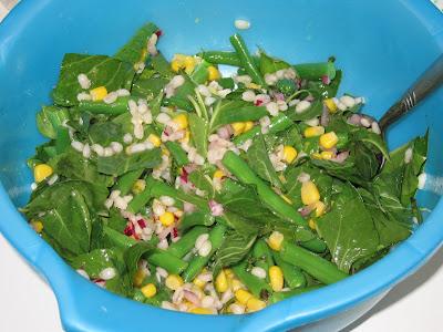 Barley, Corn and Haricot Vert Salad
