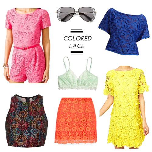 StyleAndPepperBlog.com : : Trendwatch // Colored Lace