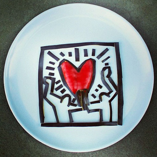 Food Art Harley Langberg Keith Haring