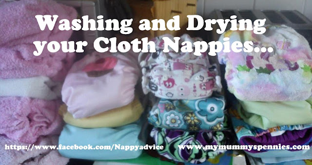 washing and drying cloth nappies