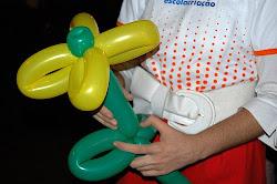 Esculturas en balões: evento para divulgar matrícula da Escola Criação na Pituba