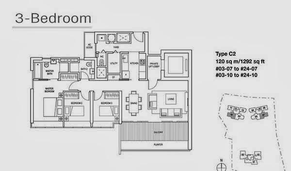 Skyline Residences 3 Bedroom Floor Plan