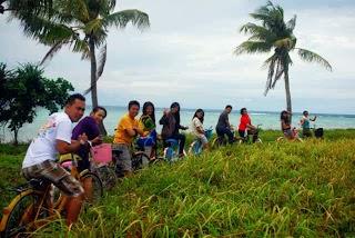 sepeda santai di pulau tidung