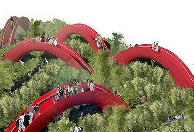 Il giardino dei diecimila ponti di Xi'an, in Cina.