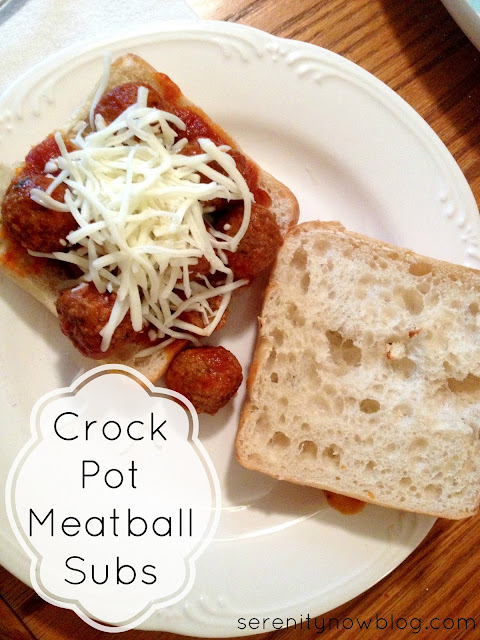 Crock Pot Meatball Subs from Serenity Now