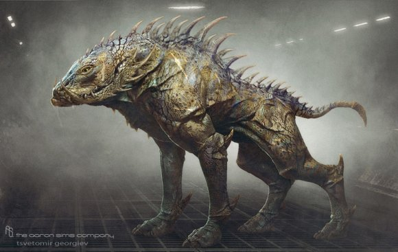 Tsvetomir Georgiev ilustrações artes conceituais e modelos 3D filmes Cão alienígena