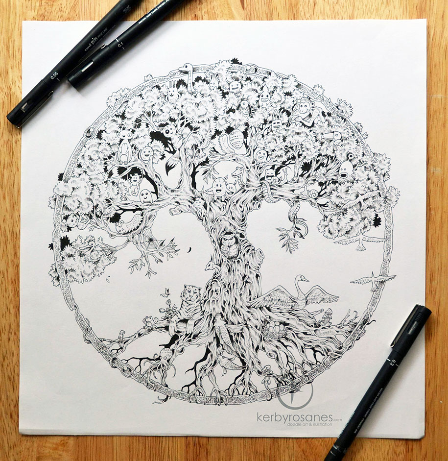 Detailed doodles artwork by kerby rosanes vigorous art for Kerby rosanes