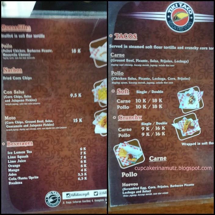 Kuliner jogja tiki taco mexican street kitchen rina for Z kitchen jogja menu