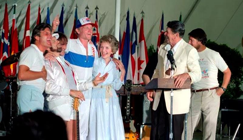 Ronal Reagan With The Beach Boys 1983