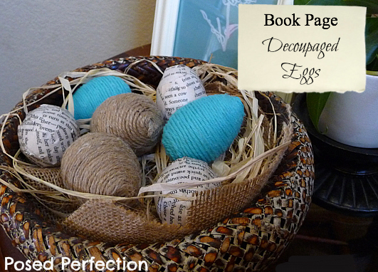 Book Page Decoupaged Eggs ~ more spring inspiration!