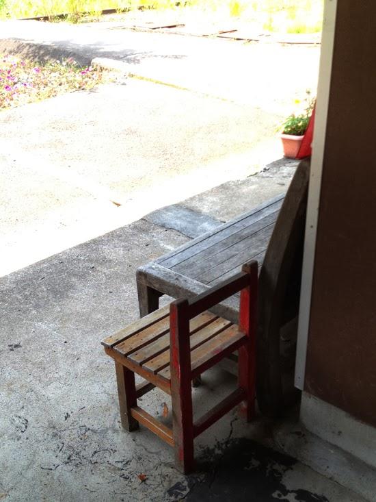 駅にあったかわいい椅子