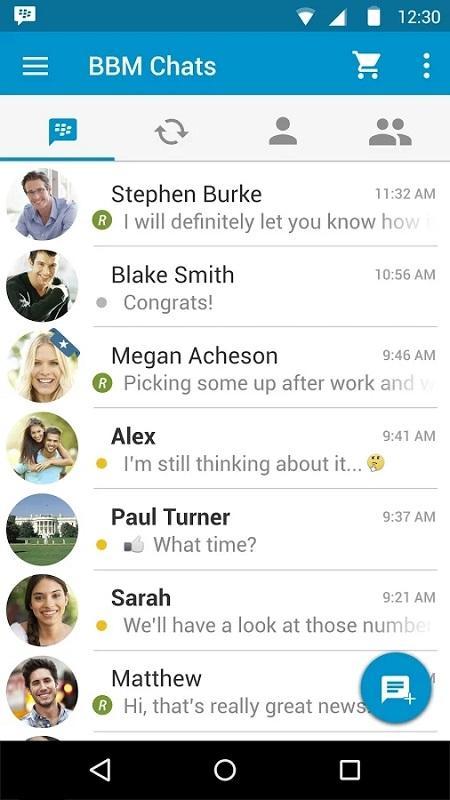 Chats BBM material design