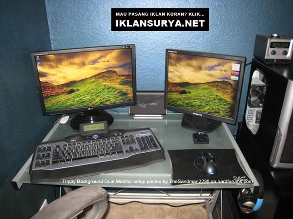 Ruang Kerja IT Dual Komputer