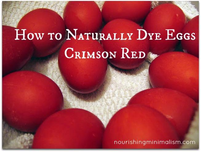 Red Eggs for Greek Easter - Nourishing Minimalism