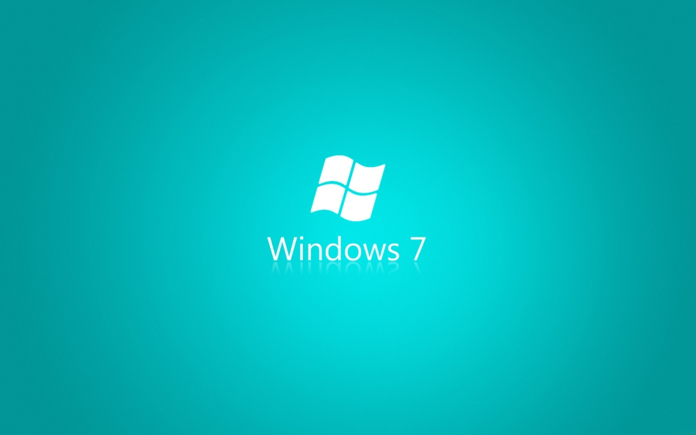 Black and White Wallpapers: Turquoise Windows 7 Wallpaper