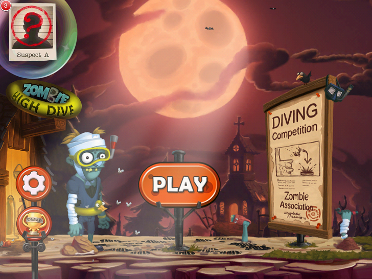 Zombie High Dive Free App Game By Chillingo
