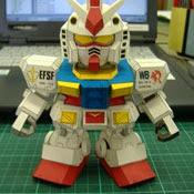 SD RX-79 G Gundam Papercraft