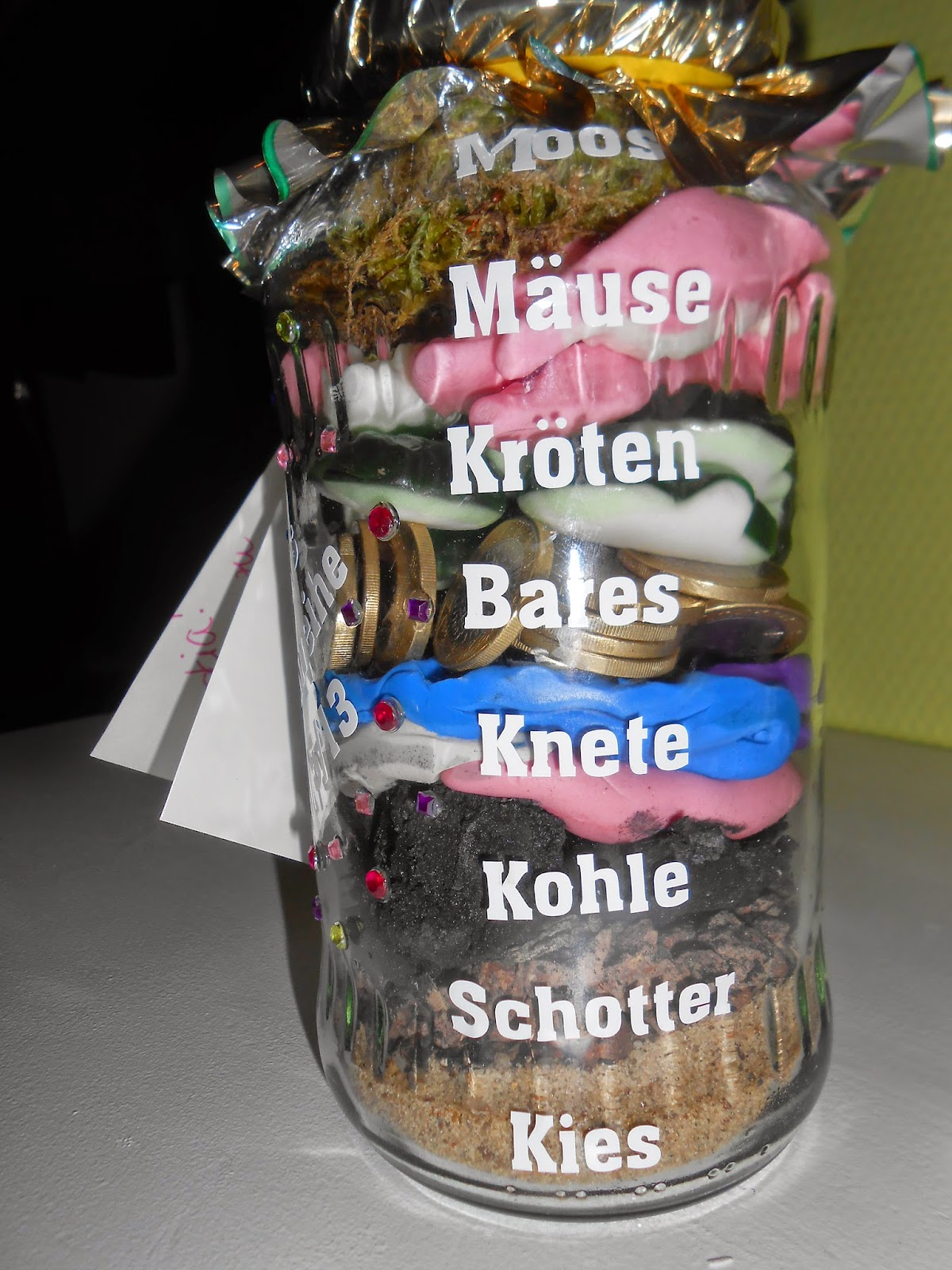 Geldgeschenk im Glas Money t in a jar Upcycling DIY ts Pinterest