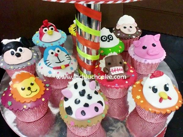 cupcake ulang tahun anak tema binatang