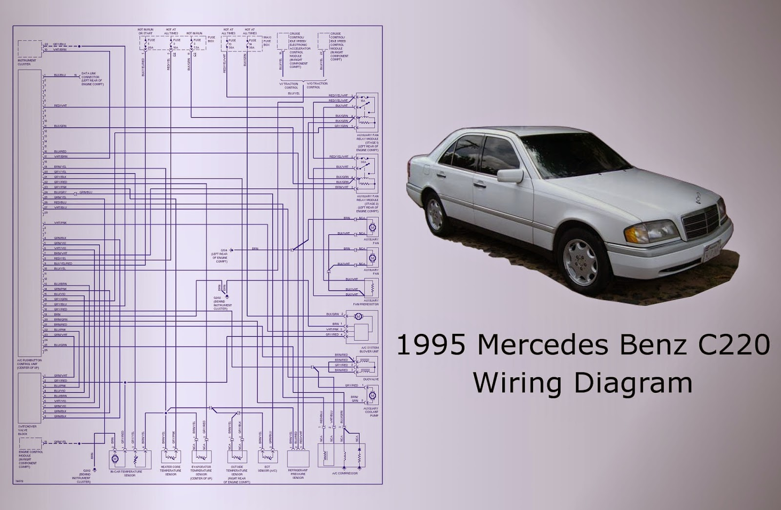 Wiring Diagram 1995 Mercedes Benz C220 - Electrical Drawing Wiring ...