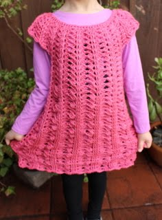 Crochet Dress Pattern, Size 5-6 Years Old, $2.69