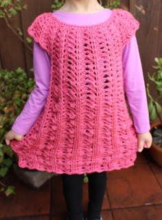 Crochet Dress Pattern, Size 5-6 Years Old, $2.69