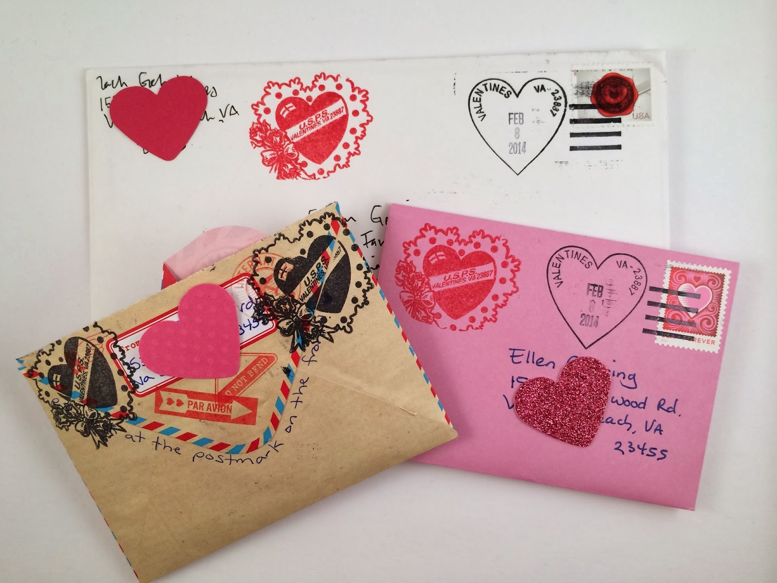 postmarked with love received with love valentines day edition