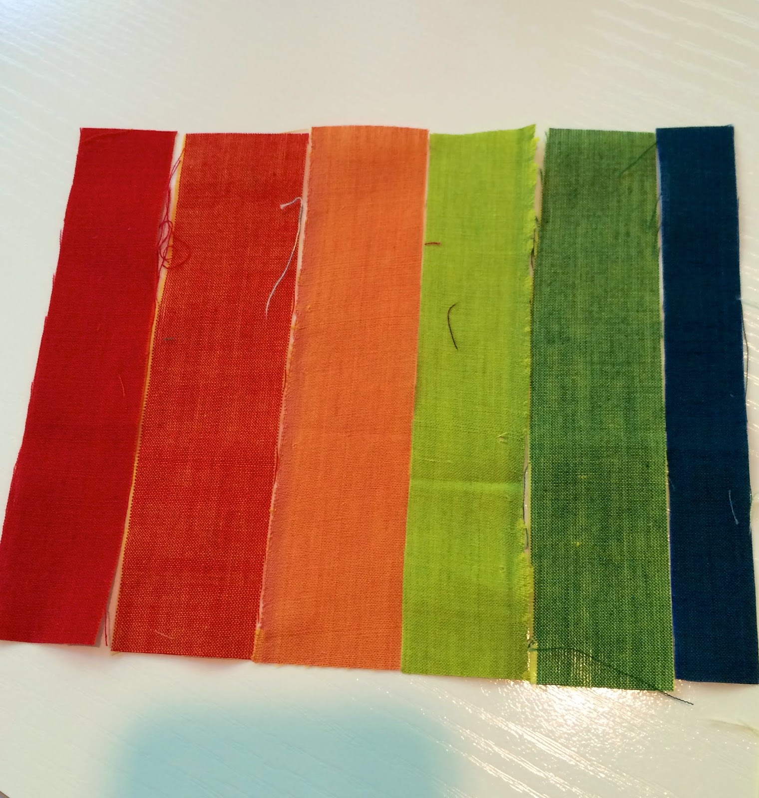 Repurpose bits of fabric stash into cards!