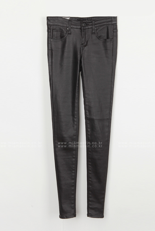 Coated Low Rise Pants