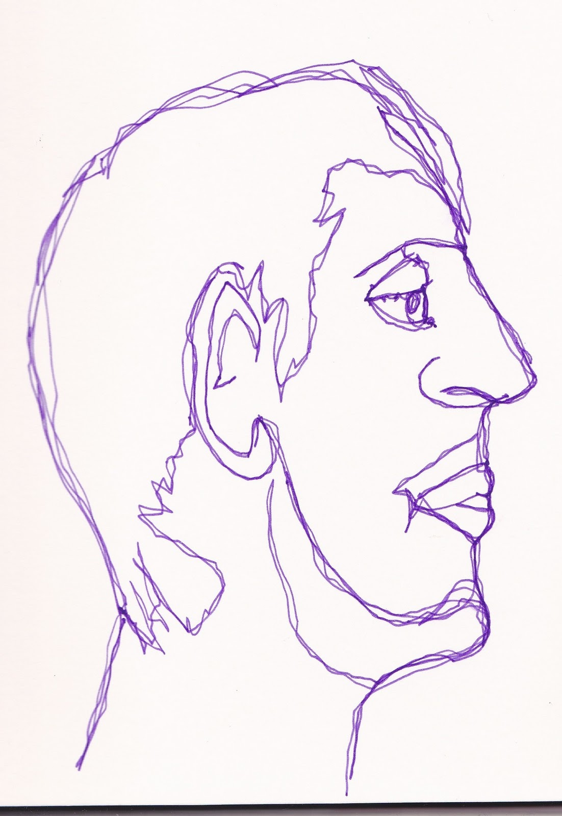 One Line Art Animation : Animation arts one line portraits
