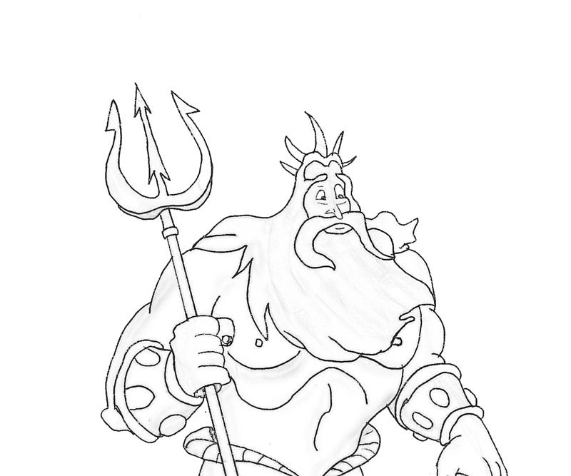 king-triton-lance-coloring-pages