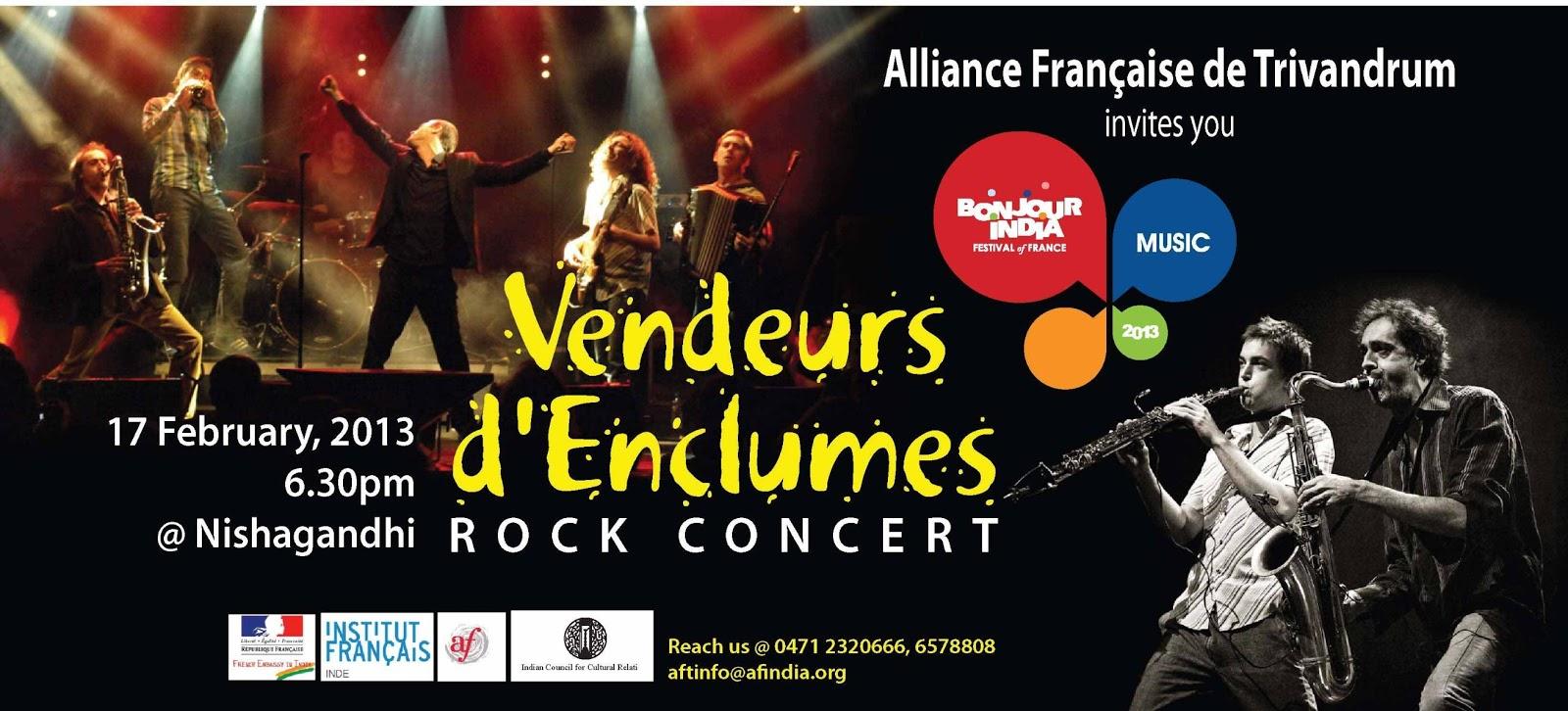 vendeurs d'Enclumes Rock Concert @ Nishagandhi