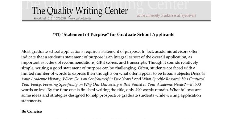 Writing personal essay for graduate school