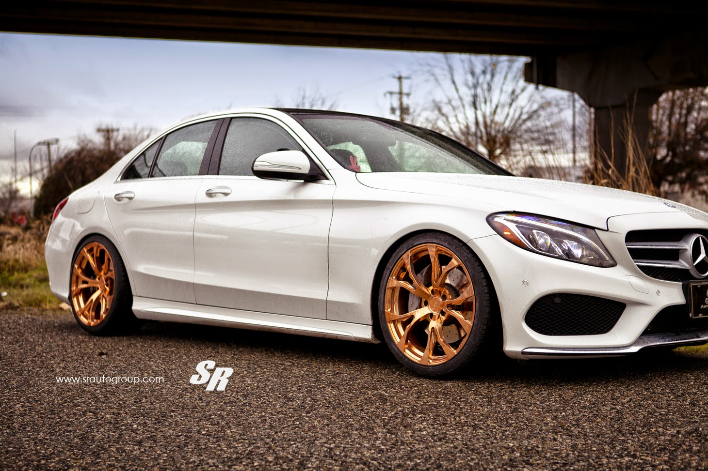 Mercedes benz w205 c300 on rich gold pur rs04 wheels for Mercedes benz rims c300