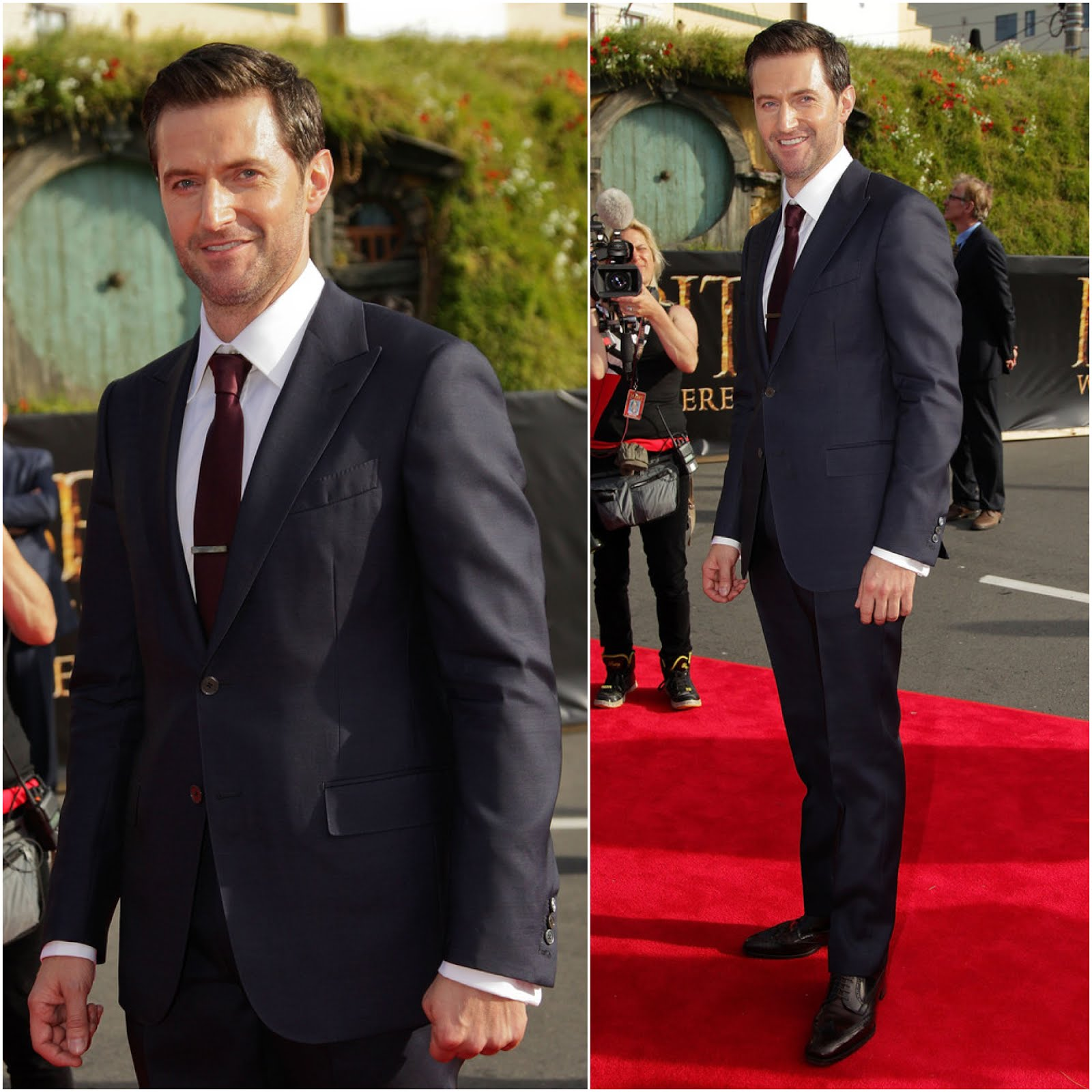 00O00 London Menswear Style Celebrity Style Richard Armitage in Ermenegildo Zegna -