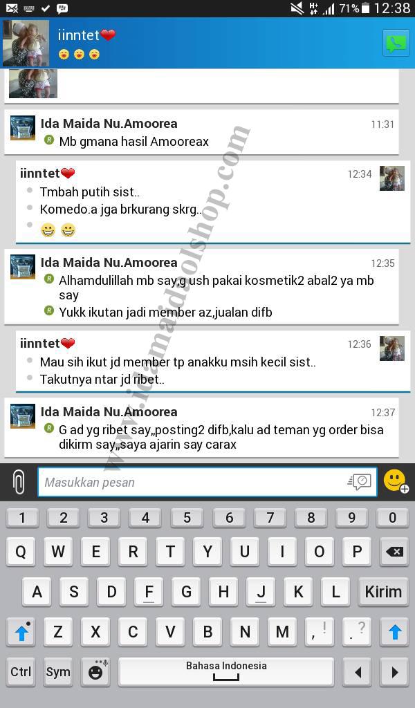 Testimony pengguna Amoorea - Ida Maida OlShop