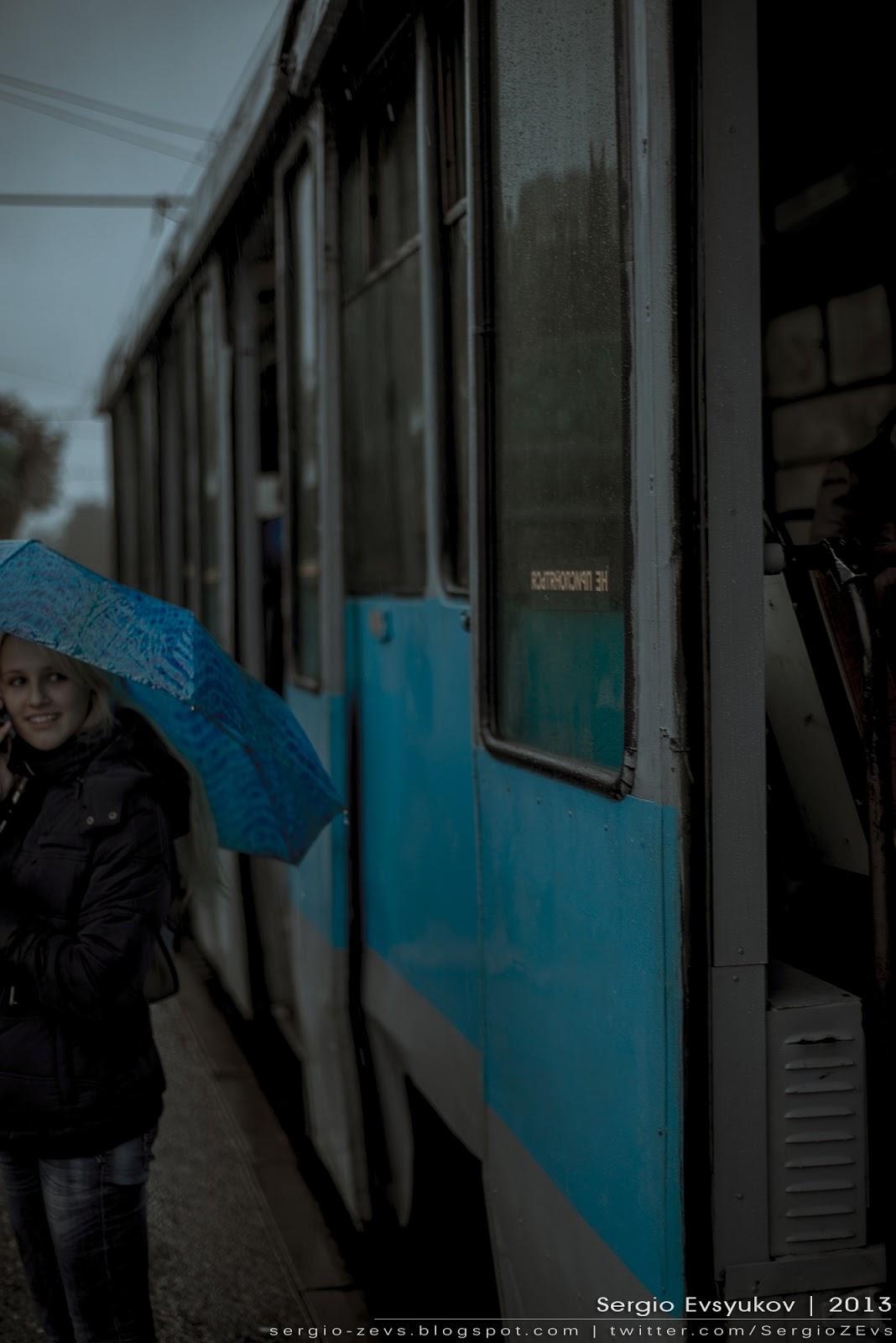 Rain and tram
