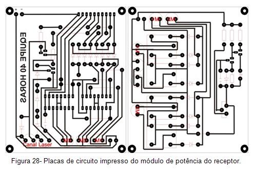 Placas de circuito impresso do módulo de potência do receptor