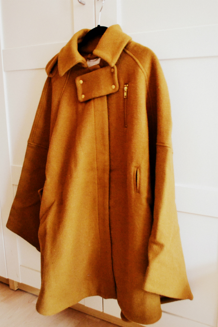 coat cape jacket brown
