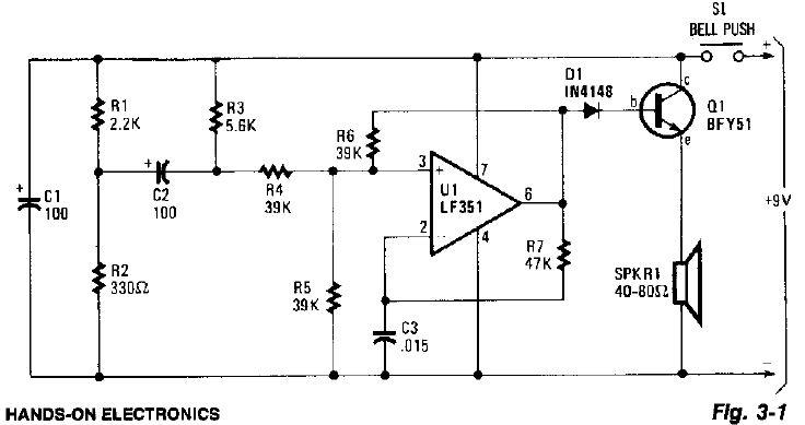 electronic circuits for beginners  door buzzer