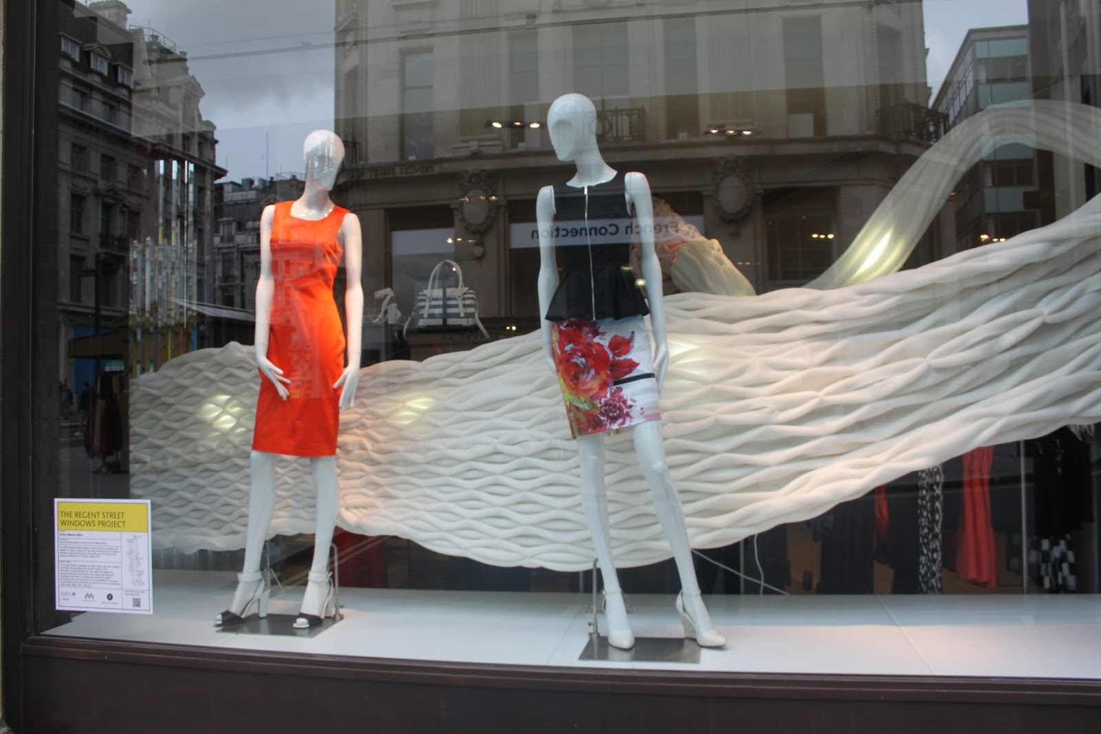 The regent street windows project 2012 - The White Textured Installation Adds To The Colours In The Forefront And Lifts It