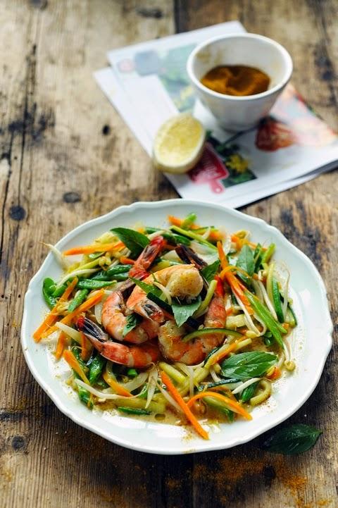 Et si je n'avais plus à faire les courses pour cuisiner ? Salez Poivrez et poêlée de gambas aux petits légumes sans bouger de ma cuisine…