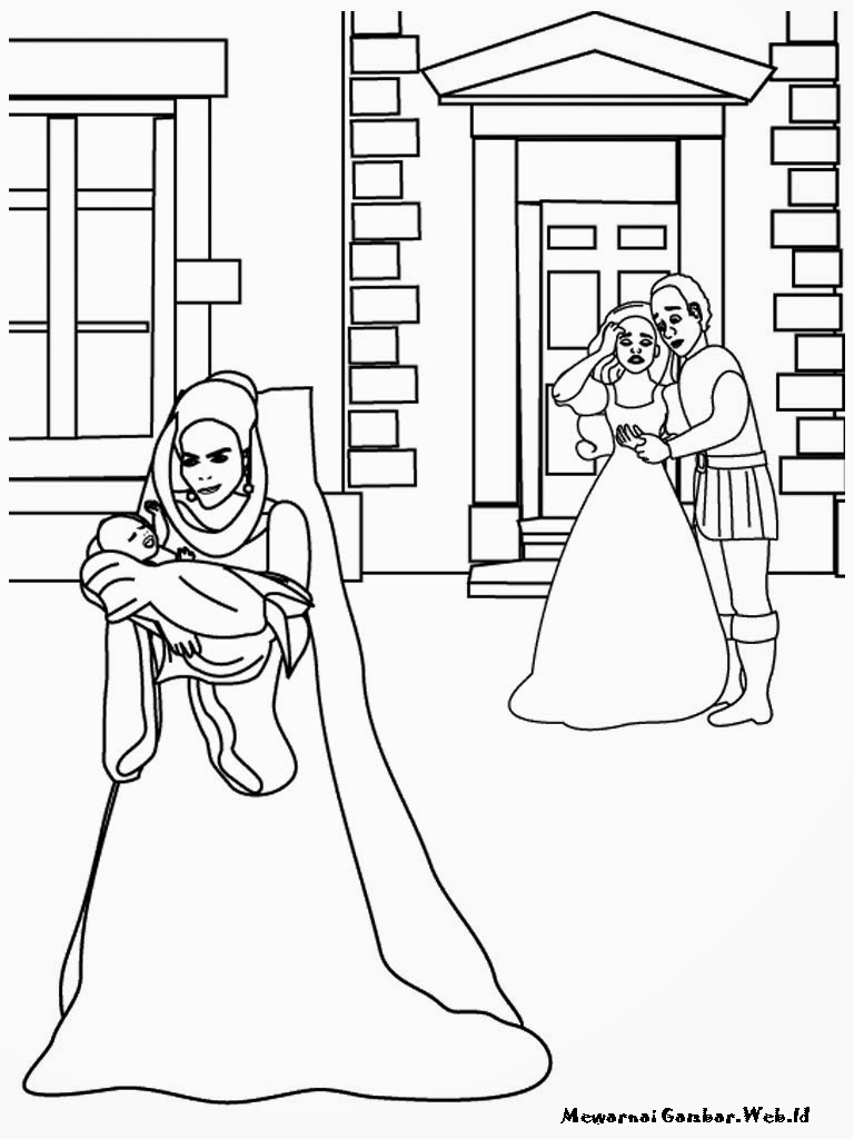 Mewarnai Barbie Rapunzel's Wedding