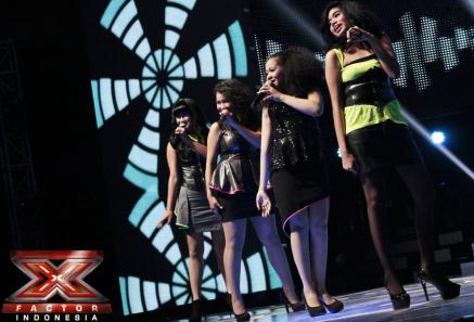 Foto-foto Ilusia Girls X Factor Indonesia