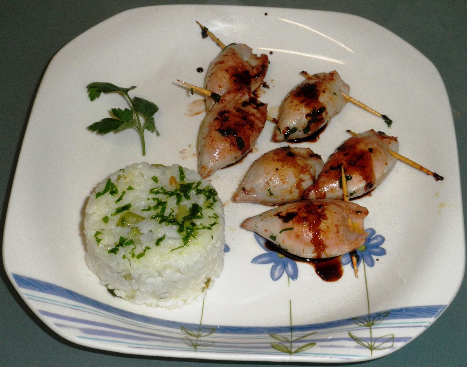 Calamares chipirones rellenos a la plancha recetas de cocina de un abuelo donostiarra - Chipiron a la plancha ...