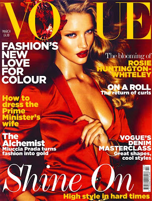 rosie huntington whiteley vogue 2011. Huntington-Whiteley and