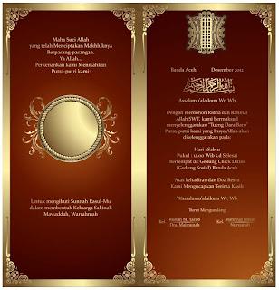 Contoh Design Undangan Pernikahan Warna Merah V3 (cdr File)