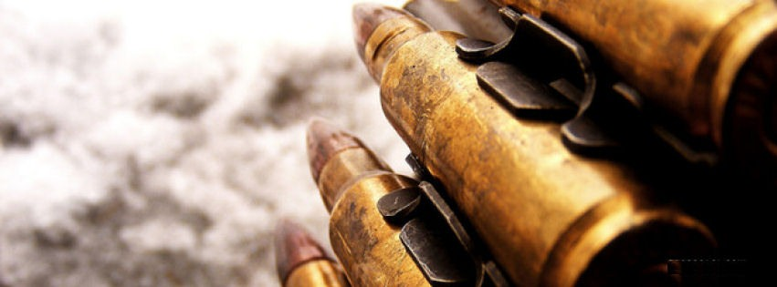 Machine gun bullets facebook cover