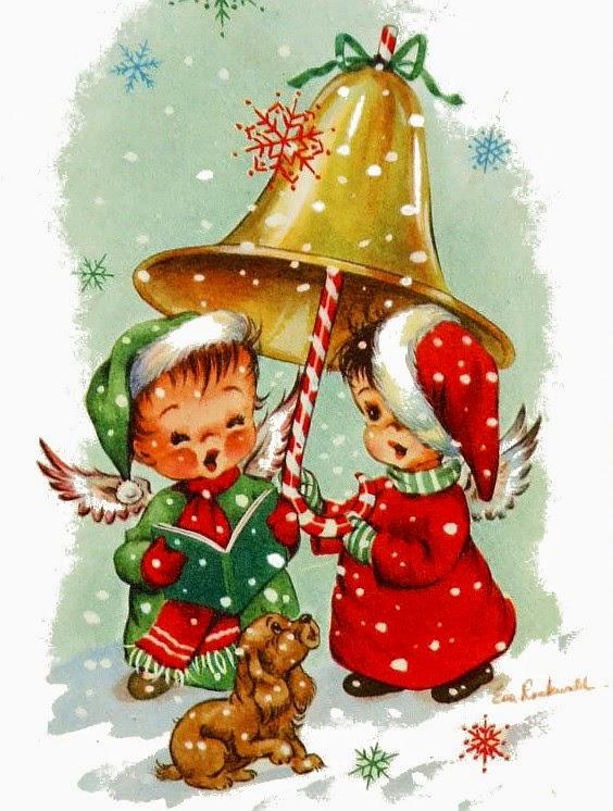 láminas.decoupage,navidad,christmas,velas,campanas