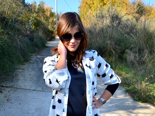 Black and white:  casual look
